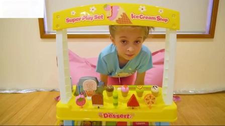 与冰淇淋车玩具儿童搞笑视频