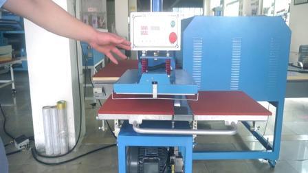 JC-7E液压双工位烫画机