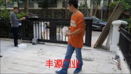 东莞三正半山豪苑铁艺平移门