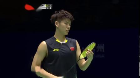 2018中国羽毛球公开赛 李俊慧刘雨辰VS阿斯特鲁普拉斯姆森