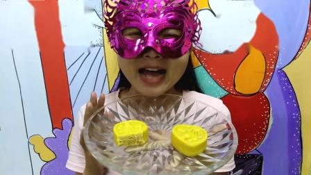 美食吃货:面罩小姐姐尝鲜儿浓香芒果中秋月饼口感细腻芳香