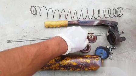 40年前的打黄油装置,看牛人如何翻新重铸,这手