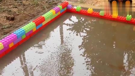 给大卡车挖掘机洗泥巴
