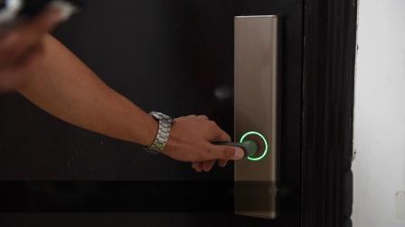 鹿客Q2指纹锁指纹录入