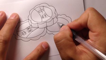 中秋节简笔画.月饼的画法