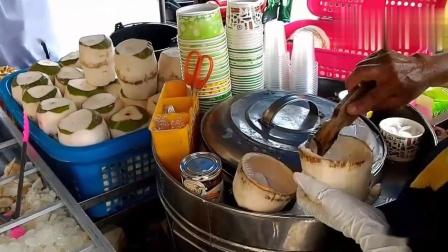 泰国旅游必尝圣品!清迈街头椰子冰淇淋