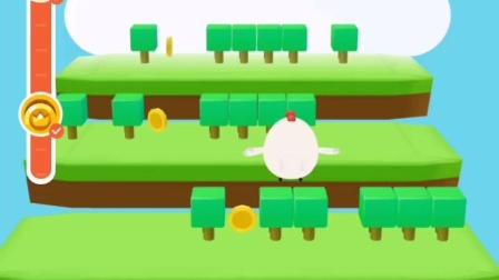 蚂蚁庄园小鸡爬山小游戏满分