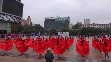 太原市杏花岭区2018老年人运动会开幕式在万达广场举行