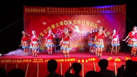 沙龙峡舞蹈队《幺妹家住十三寨》2018年八月十六公馆沙龙峡广场文艺联欢晚会