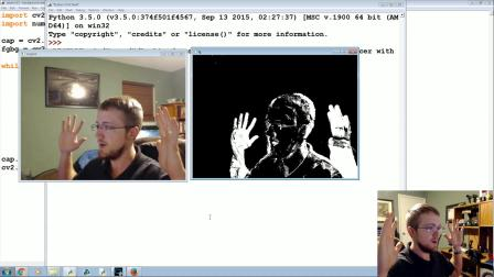OpenCV with Python for Image and Video Analysis 15 - MOG Background Reduction