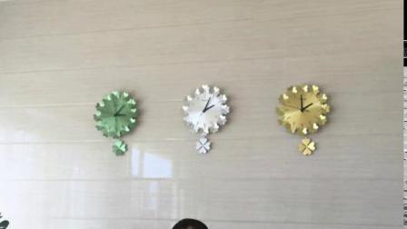 高档钟表挂钟视频  纯金属现在风格装饰  天猫主图视频拍摄3:4手机端主图视频