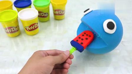 益智玩具:吃豆小子爱吃彩虹大冰棒,哈哈