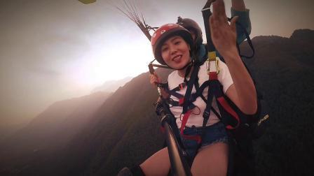 广西上林笔架山滑翔伞体验(huangjie1984)