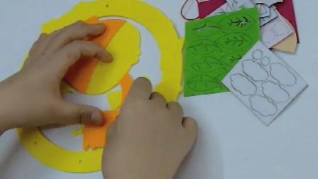 不织布花环挂饰门挂装饰礼物幼儿园儿童手工diy制作材料包