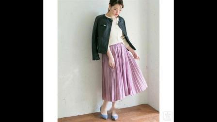 气场十足气质优雅 成熟女性必备亮色系大裙摆半裙
