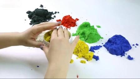 学习颜色和水果玩生日蛋糕动态沙滩彩虹玩具如何为孩子们做