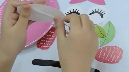 彩色动物纸盘儿童手工材料包diy卡通纸盘子幼儿园创意画粘贴制作