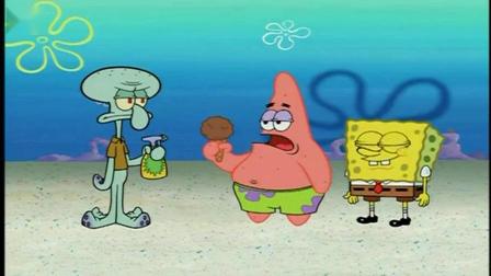 海绵宝宝_派大星的冰淇淋竟然随时放在口袋里,想吃就拿出来吃