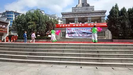湖南省郴州市桂东县沙田第一军规广场。