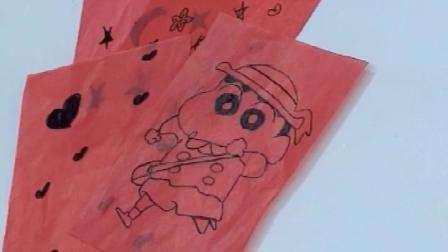 灯笼材料包自制diy幼儿园创意手工粘贴涂鸦中秋节儿童手提纸灯笼