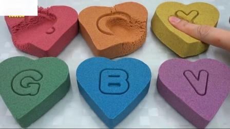如何做动沙彩虹心蛋糕学习颜色和尺码