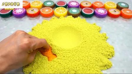 如何制作动态砂儿童蛋糕疯狂马特学习颜色