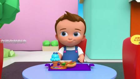 娃娃吃西餐拼鱼游戏 认识西餐颜色 认识颜色 学习英语 婴幼儿早教益智动画英语启蒙
