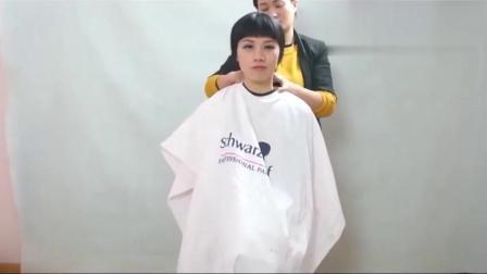 美女一米长的头发被剪