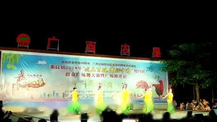 广西防城港那良镇2018广场舞大赛那良政府社区舞蹈队的傣家扎多里荣获第三名