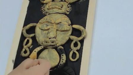 粘土仿铜浮雕画制作材料儿童手工DIY超轻黏土丙烯画装饰创意美术
