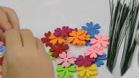 无纺布花瓣花朵切片不织布贴片儿童创意手工DIY益智粘贴美劳材料