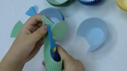快乐手工 DIY手工彩色蛋糕纸杯 儿童小号蛋糕纸托幼儿园创意材料