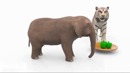 动物卡通儿童学习动物名称和声音动物宝宝寻找错误的妈妈