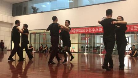 冬冬水兵舞《四步造型·二套》训练期间18.10.2