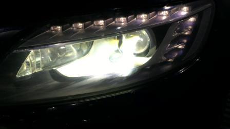 东莞改灯,常平奥迪Q5升级原装海拉五双光透镜,奥迪改灯