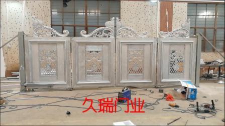 四川泸州客户悬浮折叠门安装调试中