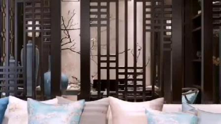 新中式客厅背景墙设计风!福州龙头装饰