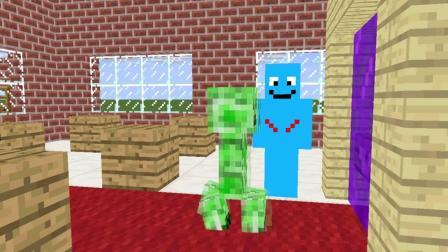 我的世界动画-怪物学院-各种二货死法-Emoos