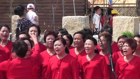 087莆田普陀山观音开光群众演出红歌