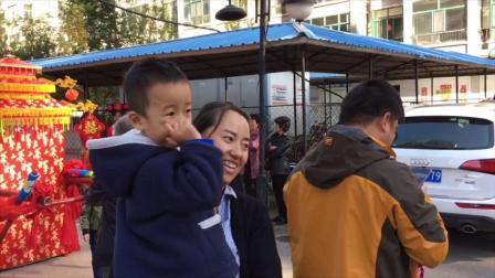 海林市青岛花园二期胡府中式婚礼现场外景2018.10.4
