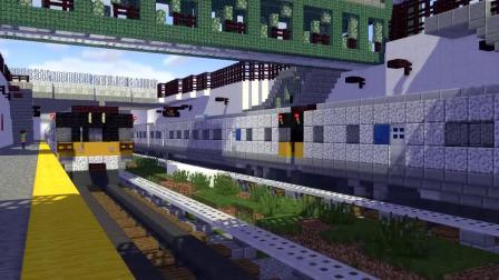 我的世界动画-史蒂夫等火车-CraftyFoxe
