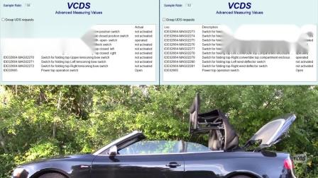 VCDS 之A5, 敞篷数据流状态变化