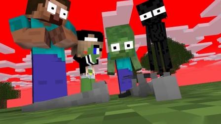 MC动画-怪物幼儿园-巴迪对战恐怖婆婆-06-MinecraftProduced