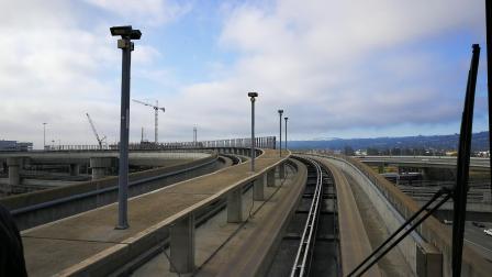 旧金山机场 轨道电车 前窗 全程拍摄 20180718 _080705