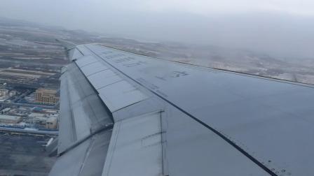 飞机雪中起飞 20180216