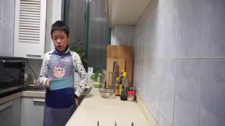 刘悦然制作布朗尼芝士蛋糕