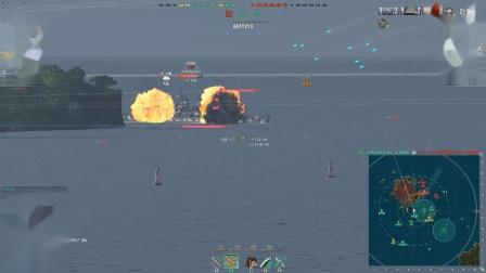 战舰世界航母车队控场型打法,防空船太多怎么办?一个字:拆!