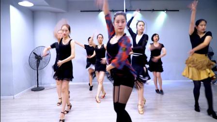 南京美度舞蹈培训 莎莎老师拉丁基础班 恰恰单人