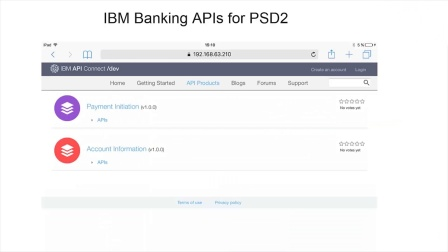 PSD2 demo with Instant Payments and API economy