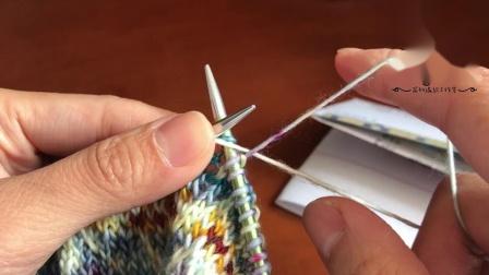 提花带线方法2-右手带双线的两种压线方法